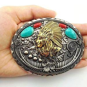Native American Indian Eagle belt buckle